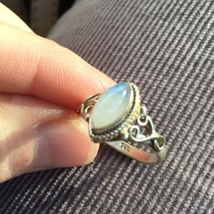 Vintage Sterling Moonstone Ring